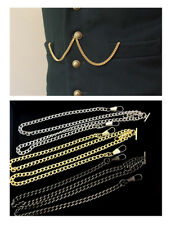 Double Albert Pocket Watch CHAIN FOB Watch Chain Gold Silver Black - FREE POST !