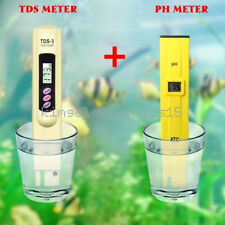 TDS Tester+Digital Ph Meter Aquarium Pool Hydroponic Water Monitor 0-9999 PPM K