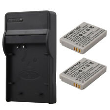2 x1200mAh NB-5L Batteries + Charger For Canon PowerShot S110 SD950 SD970 SD990