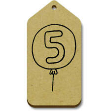 'Number 5 Balloon' Gift / Luggage Tags (Pack of 10) (vTG0015205)
