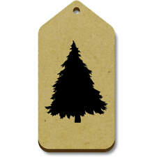 'Silhouetted Pine Tree' Gift / Luggage Tags (Pack of 10) (vTG0014910)