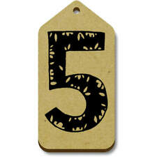 'Number 5' Gift / Luggage Tags (Pack of 10) (vTG0007452)