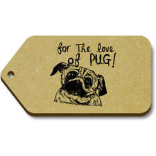 'Pug Love' Gift / Luggage Tags (Pack of 10) (vTG0015756)