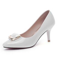 Girls Womens Patent Leather Classic Point Toe Stiletto Heel Pumps Shoes