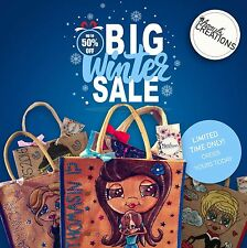 PERSONALISED JUTE BAG | CUTE | UNIQUE | HAND PAINTED | SHOPPING  **SALE NOW ON**