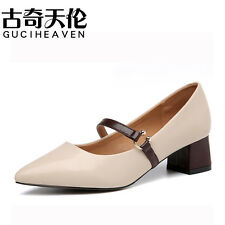 Quality  Womens Mary Janes Pumps Heel Shoes Pointed Toe Formal Work Casual