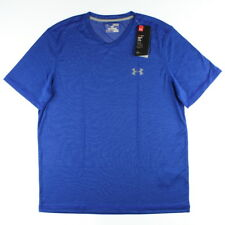 Under Armour 0685 Athletic Workout Gym Mens Tech V-Neck T-Shirt Sports Jazz Blue