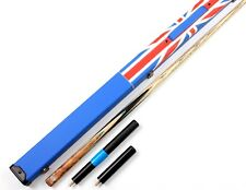 20 Splices One 1 Piece Snooker Cue Handmade Burr Pool Cues with Case Extension