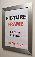 Silver Brushed Picture frames 30 mm wide | All Sizes | Pictures Photo framing