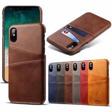 NEW Card Slot Holder Skin Leather Case Phone Back Cover For Apple iPhone 10 X