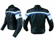 FNine Men's BMW Replica Motorbike Leather Jacket with Armour Protection