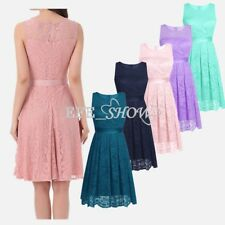 2017 Women Lace Short Dress Prom Evening Prom Party Cocktail Bridesmaid Wedding
