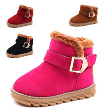 Winter Kids Boys Girls Warm Snow Boots Toddler Babys Antiskid Boots Shoes Suede