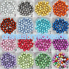 100pcs Round Acrylic Miracle 4-20mm Loose Spacer Beads Jewelry Making Findings