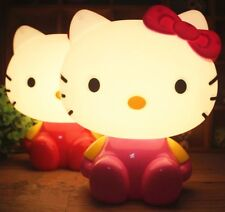 Hello Kitty LED  Night Lamp Bedside Reading Night Light Warm Decor Lamp