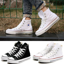 Womens Lady ALL STARs Chuck Taylor Ox High-top shoes Canvas Sneakers white/Black