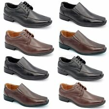 MENS SMART WEDDING SHOES ITALIAN FORMAL OFFICE WORK  SYNTH LEATHER BOOTS SIZE