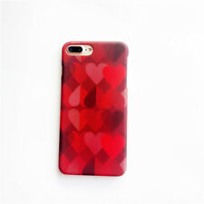 Hot Phone Back Case for Iphone 6 6S 7 8 Plus Vintage Red Love Heart Matte Hard