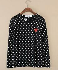 Men's T-shirts Comme Des Garcons CDG Play Polka Dot Red Heart Long Sleeve Tee