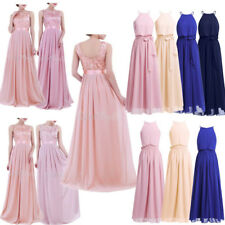 Women's Chiffon Bridesmaid Evening Gown Party Prom Wedding Maxi Long Dress NEW