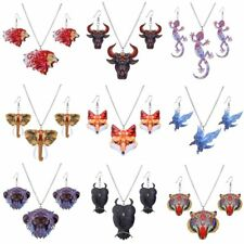 2017 New Fashion Women Acrylic Animal Necklace Earrings Set Party Jewelry Gifts