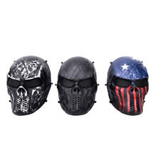 Airsoft Paintball Full Face Skull Skeleton Mask Tactical Military Cosplay PartyQ