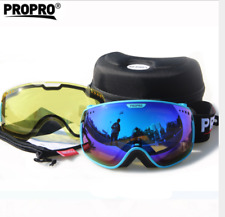 Outdoor Sports Spherical Sunglasses Anti-fog UV400 protection Goggle Double lens