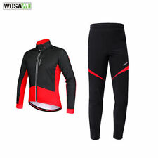 Thermal Fleece Cycling Long Sleeve Jacket/Pants winter outdoor Cycling suit