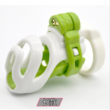 Silicone Male Chastity Device Cage Fetish Bondage Lock with 4 Locking Rings 77mm