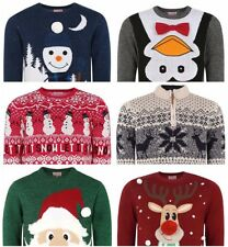 NEW! High Quality Christmas Jumpers Highly Knitted In Various Colours For Mens