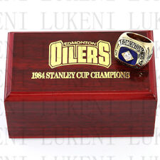 Year 1984 EDMONTON OILERS Stanley Cup Championship Solid Ring 10-13Size