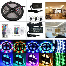 5M SMD 3528/5050/5630 300LED Flexible Strip Light Waterproof Remote Power Supply