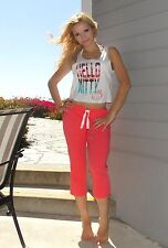 """NWT Sanrio Hello Kitty """"Summer Breeze"""" Tank Top and Pants Set M, Tropical Sunset"""