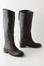 NIB Anthropologie Whipstitched Knee High Riding Boots Size 6 7.5 10.5