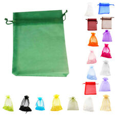 5X(v53 Premium Organza Gift Bags Jewellery Pouches XMAS Wedding Party Candy Bags