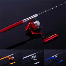 Telescopic Mini Portable Fishing Rod Carbon Fiber Pen Fishing Rod Pole + Reel