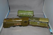 PREWAR MARX 597 OLIVE DRAB COMMODORE Vandy ARMY LOCO With 500 Tender & Radio Car