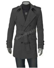 Mens Woolen Windcoat UK Style High Quanlity Stylish Trench Coat Free Shipping