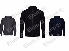 Mens Hoodie Fleece Plain Zip Up Knit Jacket Hoody Sweatshirt Hooded Zipper Top