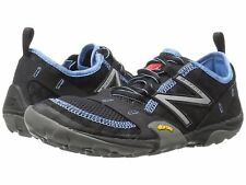 NEW Womens NEW BALANCE Black Light Blue Leather MINIMUS 10 TRAIL Running Shoes