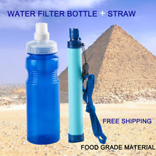Membrane Solutions Water Filter Straw Hollow Fiber + FIlter Bottle Travel Hiking