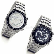 Luxury Mens Date Dial Stainless Steel Watch Calendar Analog Quartz Wrist Watches