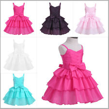Baby Flower Girl Dress Kids Toddler Wedding Party Pageant Princess Tutu Dresses