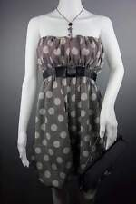 Bandeau Black Grey Spots Dress Size 12 by MISO