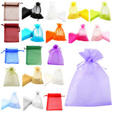 5X(v55 Premium Organza Gift Bags Jewellery Pouches XMAS Wedding Party Candy Bags