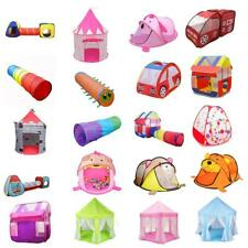 Portable Kids Toddler Indoor & Outdoor Play Tent Tunnel Play House Ball Pit Toys