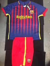 SOCCER UNIFORMS $16/SET INCLUDES JERSEY AND SHORT WITH NUMBER (BARCA)