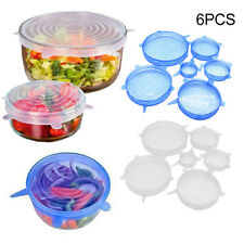 6pcs Microwave Splatter Lid Food Cover Bowl Suction Stretch Covers Kitchen Tools