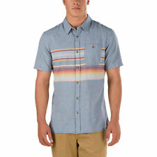 NWT Vans Off The Wall Wensley Turtle Dove Roc Woven Button Shirt S/S(Retail $60)