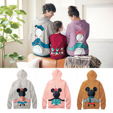 Family Matching Mom Dad Kid Boy Girl Mickey Mouse Hooded Sweatshirt Blouse Tops